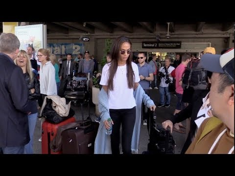 EXCLUSIVE : Joan Smalls arriving at Nice airport for Cannes Film Festival