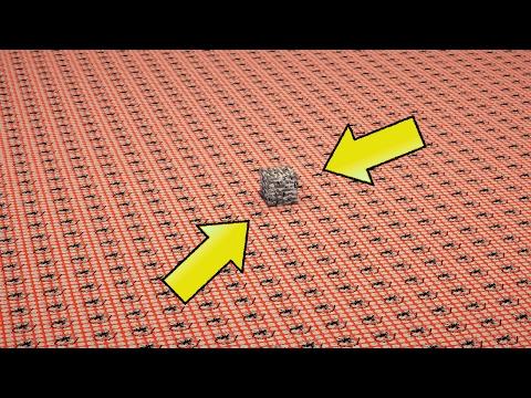 50,000 TNT VS 1 BEDROCK BLOCK | Minecraft