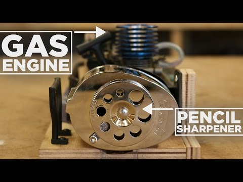 Nitro Engine Powered PENCIL Sharpener!
