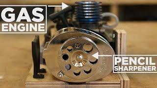 Nitro Engine Powered PENCIL Sharpener!
