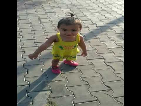 Cute baby age 1year exited to walk and run