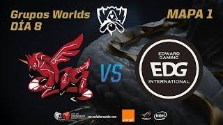 AHQ E-SPORTS CLUB VS EDWARD GAMING - GRUPOS - WORLDS 2017 - DÍA 8