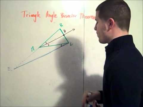 Triangle angle bisector theorem proof