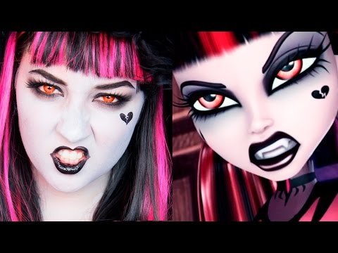 MONSTER HIGH Gothic Draculaura MAKEUP TUTORIAL