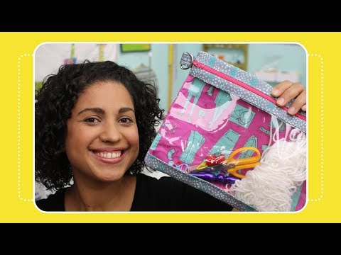 6 Tips for Sewing with Clear Vinyl by The Crafty Gemini