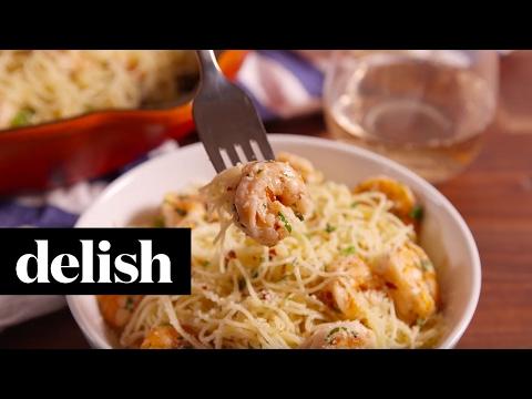 Garlic Butter Shrimp Pasta   Delish