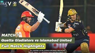 Thrilling Finish By Ben Cutting | Quetta Gladiators vs Islamabad United | Match 1 | HBL PSL 5 | 2020