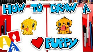 How To Draw A Valentines Golden Retriever Puppy + Spotlight
