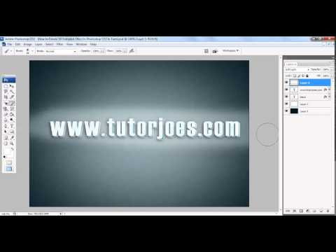 How to Create 3D Extruded Effect In Photoshop CS3 In Tamil Part   2