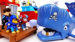 Scary Whale Is Attacking A Motorboat~! Go Go Paw Patrol, Rescue Mission With Jet Skis - ToyMart TV