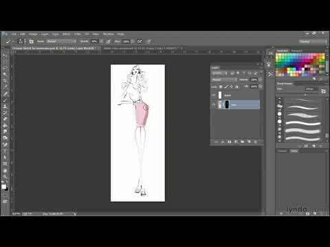 Photoshop fashion design tutorial: How to create a watercolor look | lynda.com