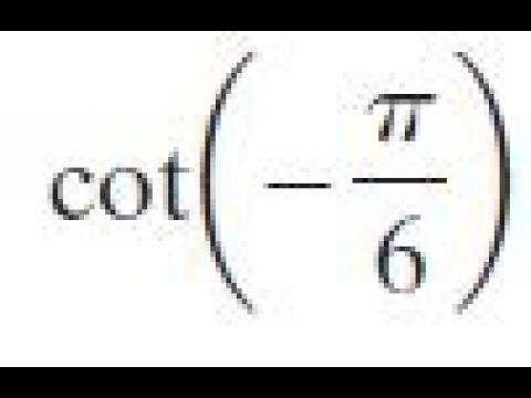 cot(-pi/6)
