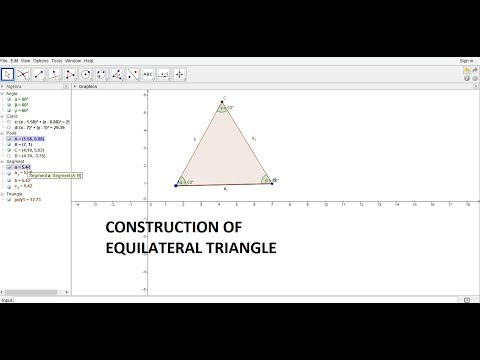 Construction of EQUILATERAL TRIANGLE by GEOGEBRA in Hindi