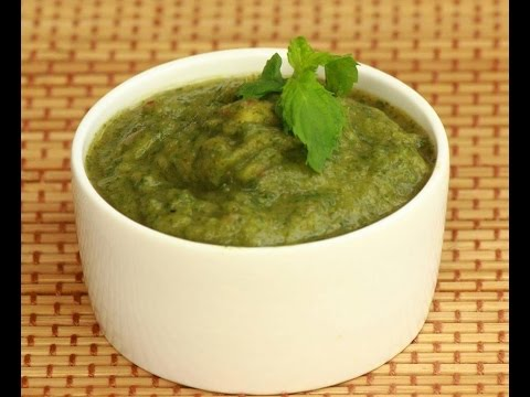 how to make Mint and Onion Chutney in hindi subtitle