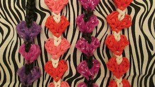 Rainbow Loom Heart To Heart Bracelet Tutorial. Valentine