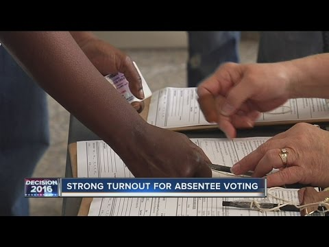 Strong turnout for absentee voting