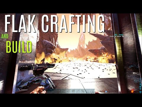FLAK CRAFTING and STORAGE BUILD - Official PVP - ARK Survival