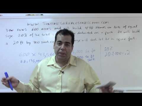 Florida Real Estate Exam Prep Math 8: Acres and Lot Sizes