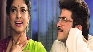 Juhi Chawla sings for Anil Kapoor - Andaz, Comedy Scene 18/22