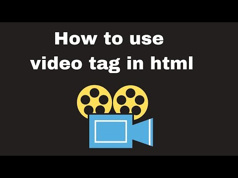 How to use video tag in html
