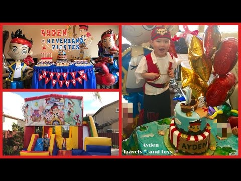 HAPPY 3rd BIRTHDAY AYDEN! | PARTY Kids Family Fun | Jake and the Neverland Pirates | Treasure Chests