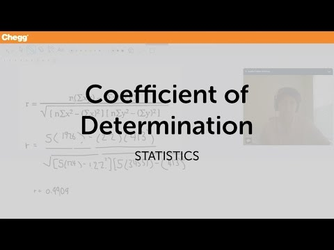 Coefficient of Determination | Statistics | Chegg Tutors
