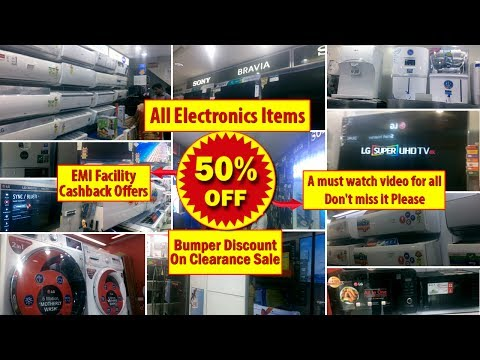 50% Discount On New Electronic Items, LG, Samsung, Sony, Hitachi, Smart tv, Fridge, Ac, On EMI