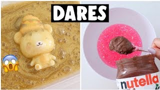 EXTREME SLIME & SQUISHY DARES?! *making nutella slime*