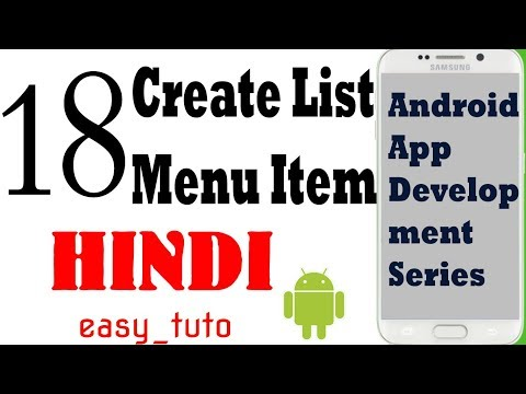 18 Create List to Open Activity | Android App Development Series | HINDI | HD