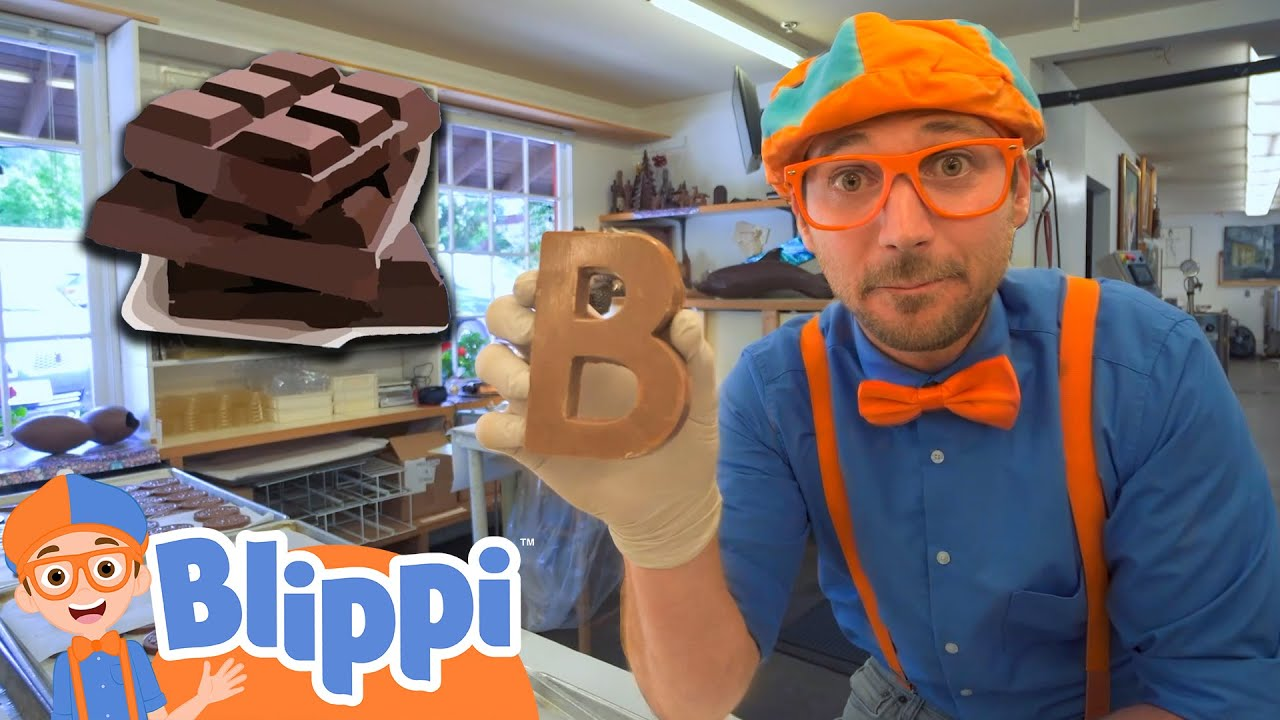 Blippi Visits A Chocolate Factory   Educational Videos For Kids