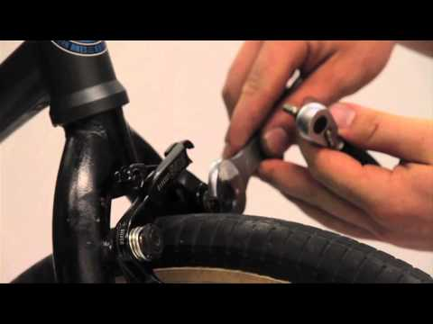 bmx bike installing a front brake - how to