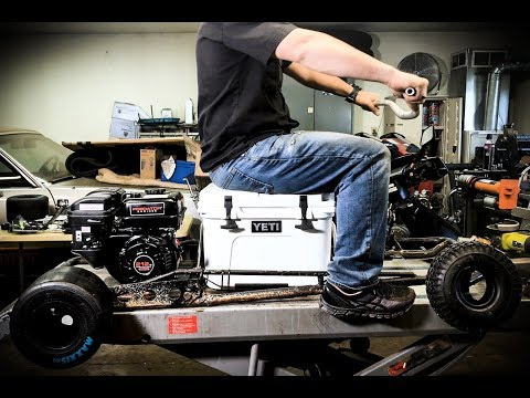 Gokart to Cooler Cart??  Hacking the frame!!  Part 2