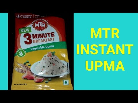 MTR 3 Minutes Breakfast Vegetable Upma/ Try first time