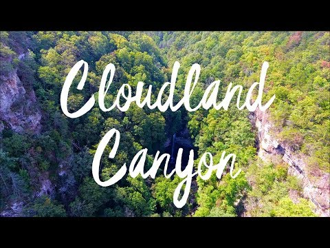 Cloudland Canyon State Park GA 4K Aerial Footage