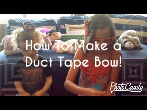 How To Make Duct Tape Bows (kids projects)