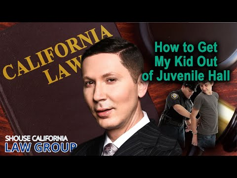 Legal Analysis: How to get my kid out of juvenile hall in California?