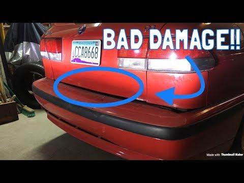 SAAB CRASH!! :( *Frame Damage?!*