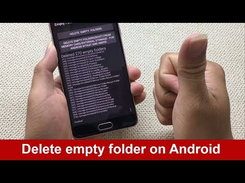How to delete empty folders on Android 2018