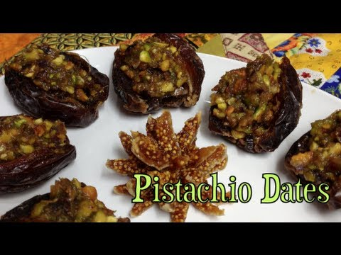 Pistachio Stuffed Dates Thernochef video recipe cheekyricho