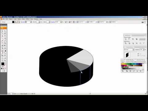 How To Create Pie Chart In Illustrator CS3  Tamil