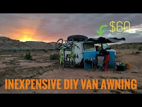 Inexpensive DIY Van Awning