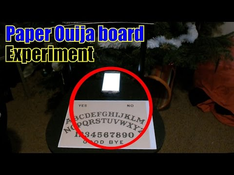 Paper ouija board - Experiment - My House Ep.1