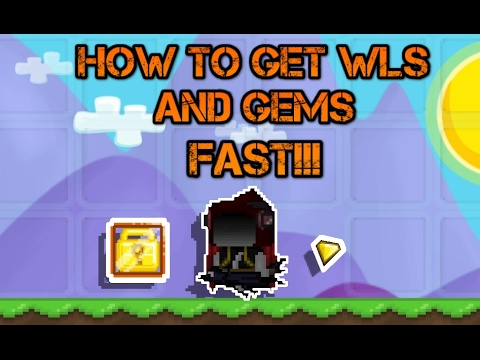 Growtopia | How to get WLS and GEMS fast!