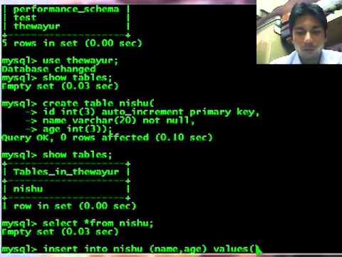 MySql basic querries - show, create, select, insert, delete, update, alter, drop, truncate