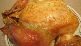 Brining And Roasting A Whole Chicken To Make Pulled Chicken