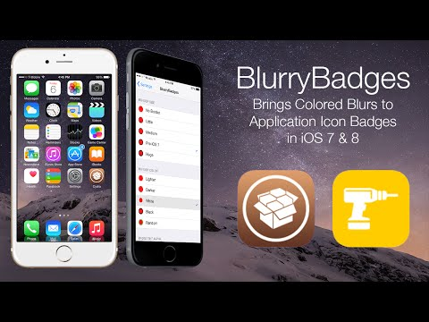 BlurryBadges: Brings Colored Blurs to Application Icon Badges in iOS 7 & 8