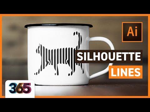 😺 Silhouette Lines | Illustrator CC Tutorial #146/365