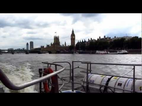 Riding the Thames Clipper in London
