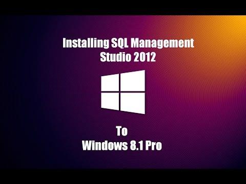 How to Install Sql Server Management Studio 2012 on Windows 8