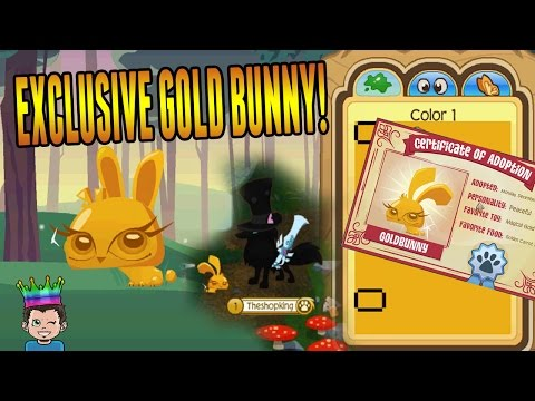 Animal Jam Exclusive 🌟 LIMITED EDITION GOLD PET BUNNY!